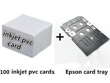 Inkjet PVC ID Card Starter Kit - Epson T50 L800 -100 Printable Cards & Card Tray