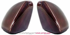 VW Golf MK7 VII Red Carbon Fibre Fiber Replacement Mirrors - Exclusive Range