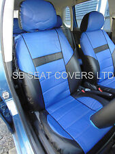 AUDI A4 / A6 / A8 CAR SEAT COVERS ROSSINI ROS 0212 BLUE LEATHERETTE PRESTIGE
