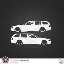 (971) 2x low and Slow BMW E36 Touring Sticker Aufkleber OEM M3 Motorsport  Turbo