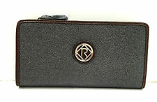BNWT Authentic RELIC By FOSSIL Heather Checkbook Wallet Clutch Charcoal $30 FLAW