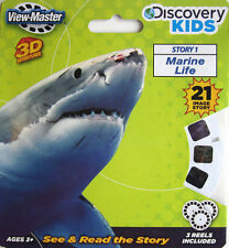MARINE LIFE View-Master Reel Discovery Kids 3D Shark fish killer whale 3pack NEW
