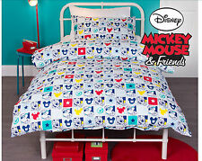 SINGLE BED KIDS MICKEY MOUSE DISNEY LICENSED QUILT DOONA COVER SET + PILLOWCA SE