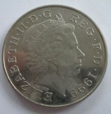 ENGLISH FIVE POUND COIN -- 1999: Diana, Princess of Wales, In Memorium.