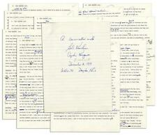 Transcript of a Television Interview With ''Captain Kangaroo'' from 1... Lot 425