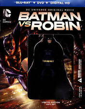 Batman vs Robin (2015) Blu-ray/DVD/HD Lmtd Edition Figure Gift Set NEW!