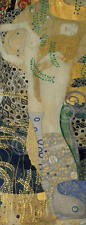 Gustav Klimt Water Serpents I Symbolist Abstract Woman Nude Print Poster 13x19
