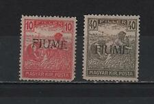 ITALY 1918 FIUME OVERPRINTED ON MAGYAR POSTA WHITE NUMERALS MINT VLH SC# 7a-12a