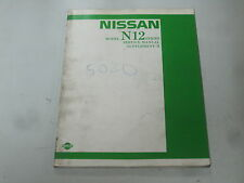 NISSAN N12 Service  workshop manual ENGLISH Reparatur Handbuch Buch Repair