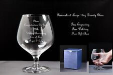 Personalised 18oz Brandy Glass Wedding Anniversary Gift