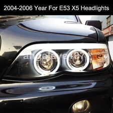 2004-2006 Year For BMW X5 E53 CCFL Angel Eyes Front Lamps Light Black Housing SN