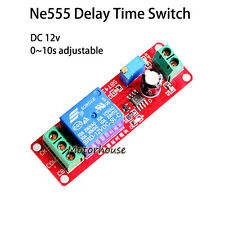 DC 12V  Adjustable 0-10 Second Delay Time Turn on Switch NE555 Relay Module