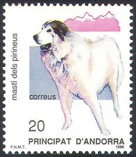 Andorra 1988 Pyrenean Mountain Dog/Dogs/Pets/Animals/Nature Protection 1v n18702