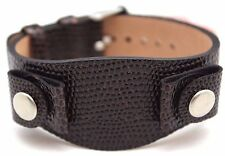 16mm Relic Watch Wrist Bund Band Leather By Fossil Snake Skin Style Dark Brown