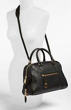 Marc Jacobs Large Venetia Satchel Leather Black Shoulder NWT SOLD OUT MSRP $1595