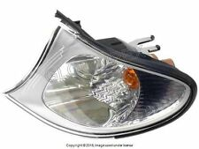 BMW E46 FRONT LEFT Turn Signal Light w/White Lens & Titanium Trim ULO OEM