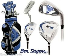 Ben Sayers All Graphite M15 Complete Golf Club Set Cart Bag Mens New Clubs