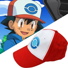 Anime Pokemon Pocket Monster Ketchum Ash Hats Costume Cosplay Party Trainer Cap