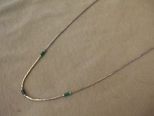 Native American Sterling Liquid Silver Malachite Necklace