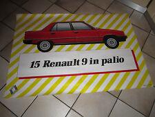 MANIFESTO ORIGINALE 1981  RENAULT 9 , AUTO CAR