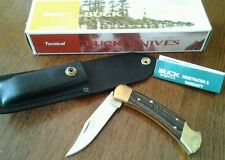 WIX Filters-BUCK USA B110 Folding Hunter Lockback Knife w/Leather Sheath NIB