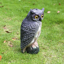 Hot Realistic Owl Decoy Weed Pest Control Garden Scarer Scarecrow Ornament
