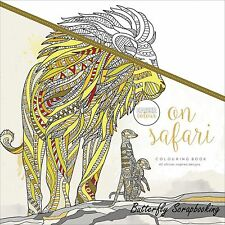 On Safari Coloring Book For Markers Watercolors Pencils Kaisercraft New