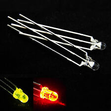 5 x 3mm 3 Pins Common Anode Red Green LED Light Clear Bulb Bright Emitting Lamp