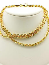 21k Solid Yellow Gold Sparkle Rope Necklace/ Chain 9.94 Grams