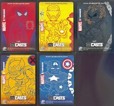 MARVEL MASTERPIECES 2007 UPPER DECK SUBCASTS INSERT CARD SET 1 TO 5 OF 5 MA