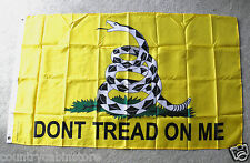 Don't Tread on Me Gadston Flag 2nd Amendment Nylon Polyester Flag 3 X 5 Feet Yel