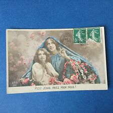 CPA Carte Ancienne PETIT JESUS PRIEZ POUR NOUS NOEL 1908 Postcard