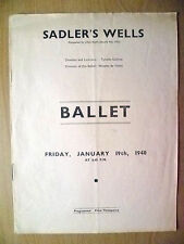 Sadler's Wells BALLET Programe 19/1/1940-THE SLEEPING PRINCESS-Ninette De Valois