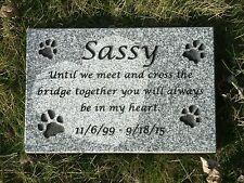 """Personalized pet memorial head stone grave marker- 2"""" granite"""