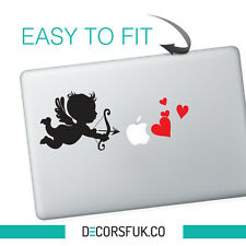 Cupid Valentines day Macbook Stickers black vinyl | Macbook Decal - LOVE sticker