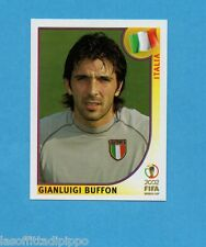 KOREA/JAPAN 2002-PANINI-Figurina n.459- BUFFON -ITALIA-NEW BLACK BACK