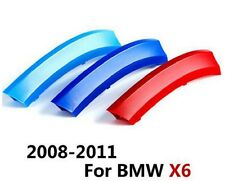 3D 3 Colours Kidney Grille Plastic Cover Strips Clips BMW X6 E71 2008-2011