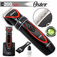 Oster C200 Ion Professional Rechargeable Cord or Cordless Lithium Hair Clipper