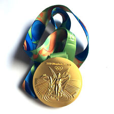 Brazil Rio 2016 Olympic Winners Gold Medal With Ribbon Souvenir Gift