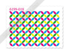 Fluoro Neon Psychedelic Patterns Nail Stamp Water Transfer Decal - Lot X 4