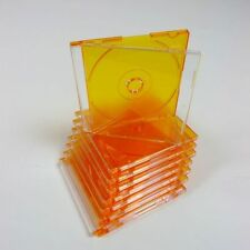 50 Orange 8cm Mini Disc Jewel Case for CD-R CD DVDs DVD