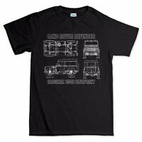 Land Rover Defender 90 110 Blueprint Mens T shirt - Off Roading 4x4 One Life