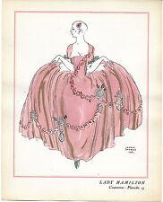 George BARBIER Lady Hamilton Casanova Rostand 1921 Vogel POCHOIR ORIGINAL RARE