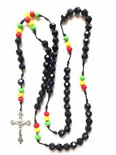 Rosary -  acrylic wood beads prayer beads rosary  - Rosary Crucifix Necklace