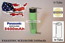(1) 100% GENUINE PANASONIC NCR18650B 3400mAh 3.7v 18650 Li-ion Battery w/ U Tabs