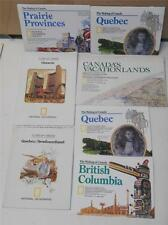 National Geographic Lot of 7 Magazine Fold Out Maps Canada Provinces BC, QC, ON