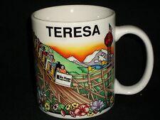 Teresa Six Flags magic Mountain Coffee Mug Linyi Theme Park Roller Coaster Rides