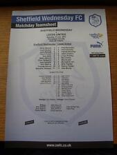 23/07/2011 couleur teamsheet: sheffield wednesday v leeds united [friendly]