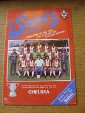 06/10/1981 Southampton v Chelsea [Football League Cup] . Item In very good condi