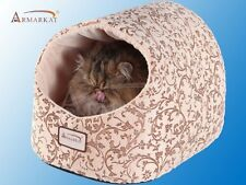 Aeromark Armarkat Cat Bed with Flower Pattern, Beige C11HYH/MH Cat Bed NEW